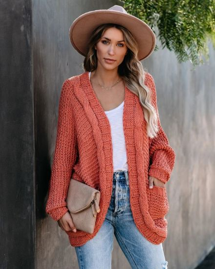 Explosive Cardigan Women Coat Fashion Clothes Thick Stitch Sweater