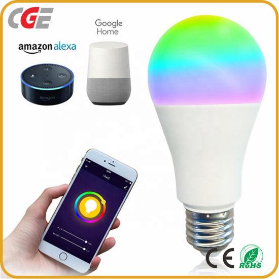 10W A60 Smart WiFi Light Bulbs RGB Color Changing Smart LED Light Bulb Compatible with Alexa Google Assistant E26 E27 B22
