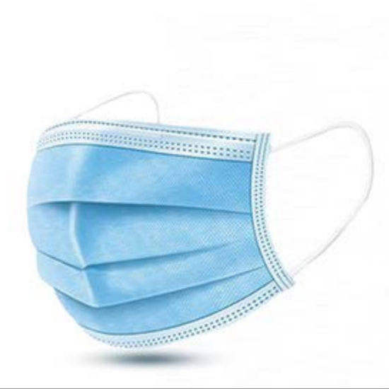 Three-Layer Blue Disposable, Melt-Blown Cloth Protective, Labor Protection, Non-Woven Masks