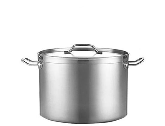 Stainless Steel Stock Pot with Straight Body Shape and Thickening Thickness