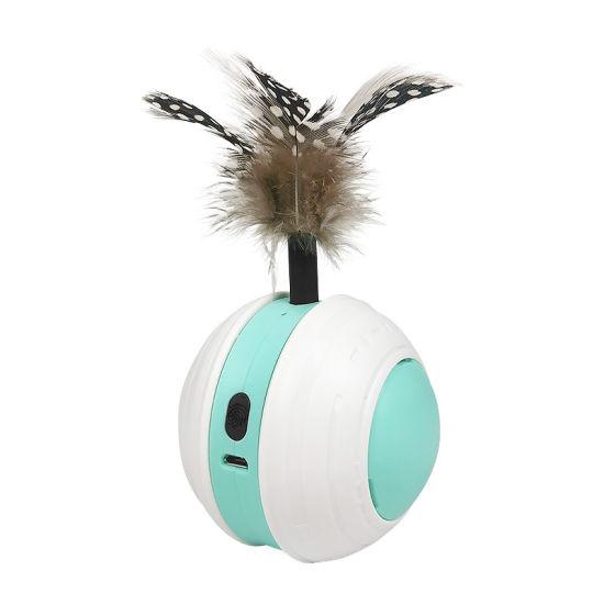 USB New Balance Cat Pet Toy Ball Animal Educational Interactive Puzzle Cat Catcher Smartykat Pursuit Cat Ball Toy