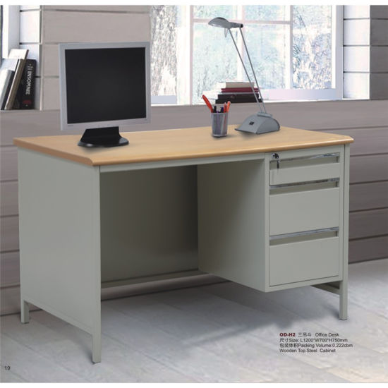 China Standard Office Desk With Locking Drawers Dimensions Small Drawers Under The Desk For Sale China Steel Table With Drawer Financial Table