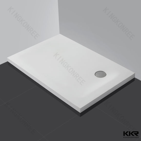 Wholesale Customized Size Shower Base Solid Surface Square Shower Tray for Bathroom