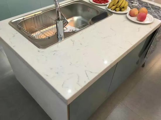 Best Quality Man-Made Quartz Kitchen Countertops pictures & photos