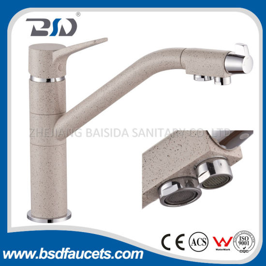 Marble Finish 3 Ways Filter Water Drinking Faucet pictures & photos