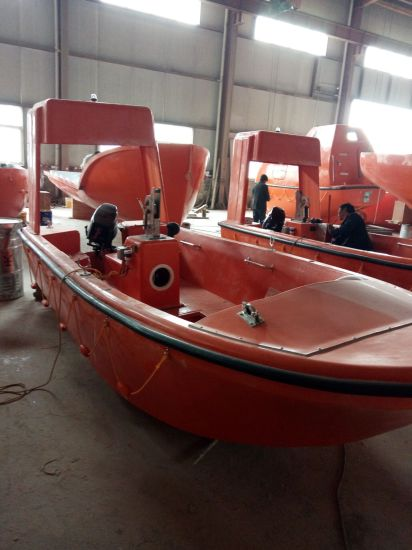 GRP 6 Persons Rescue Boat with Single Arm Davit