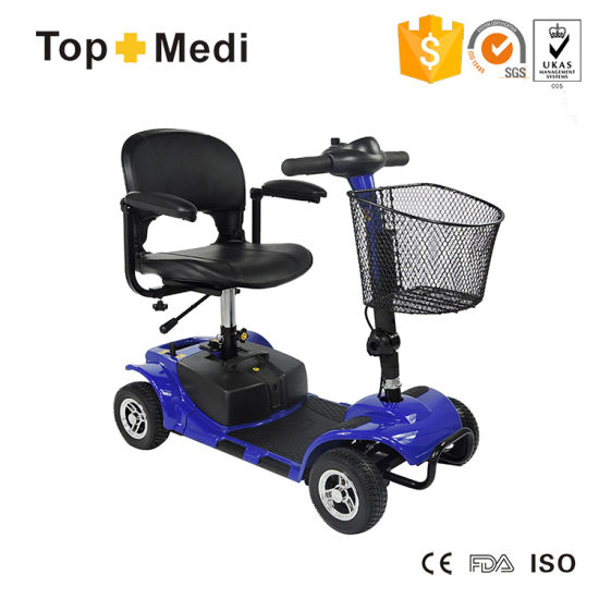Topmedi Detachable Adjustable Four Wheel Electric Scooter for Disabled