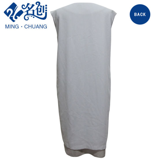 Newstyle Gray Sleeveless V-Neck Sexy Fashion Summer Women Tube Dress pictures & photos