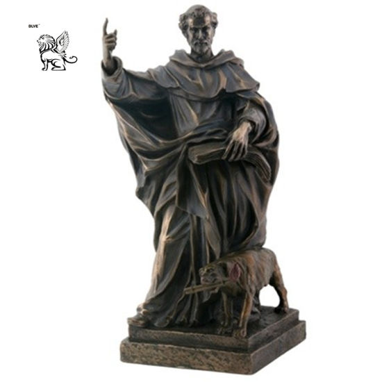 Supplier Large Bronze Saint Dominic Statue Price Outdoor Decor Bsg-72