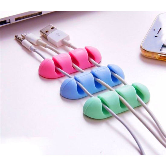 New Brand Reusable Silicone Cable Organizer