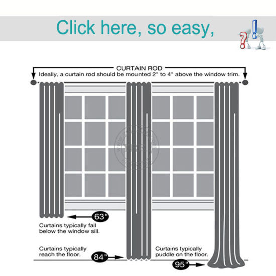 Bay Window For Curtain Track, How To Measure A Window For Curtain