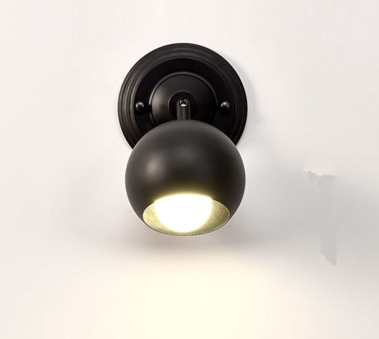 Adjustable Modern Black Metal Reading Wall Lamp Light for Bedside/Bathroom pictures & photos