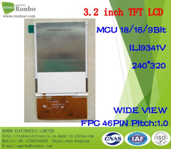 3.2 Inch 240X320 High Brightness/Wide View Angle TFT LCD Monitor pictures & photos