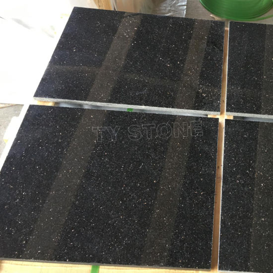 Black Stone Galaxy Granite Price with Slabs Tiles