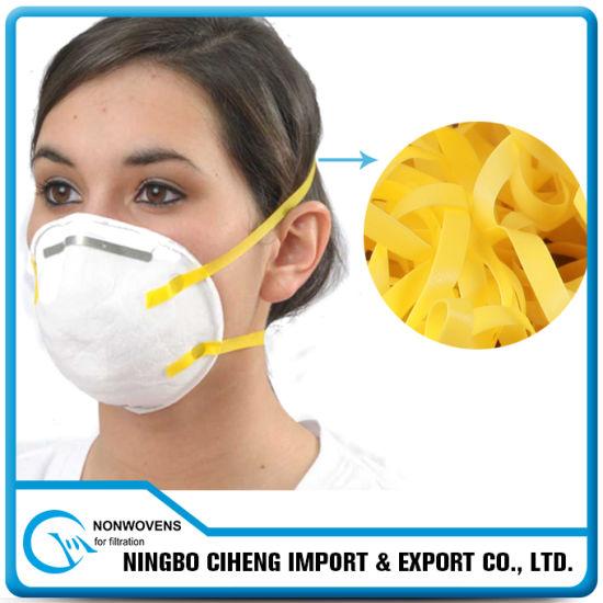Wholesale Elastic Tape Respirator Yellow Flat TPU Elastic Band
