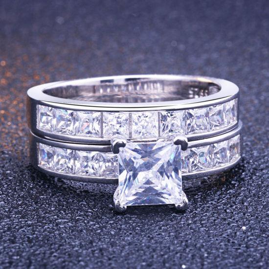 Los704-925 Sterling Silver Ring Silver Women Aaa Grade Cz Clear A874-los704