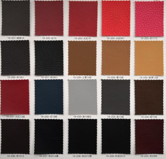PVC Artificial Leather for Notebook Covering. pictures & photos