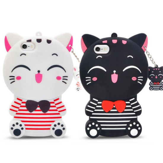 Cute Cartoon Customized Silicone Case Cover for iPhone