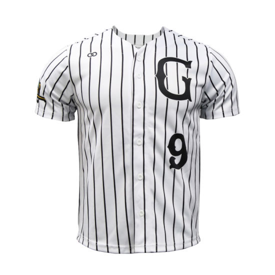 100%Polyester Wholesale Sport Clothing Team Baseball Wear Shirt Stripe Custom Baseball Jerseys pictures & photos