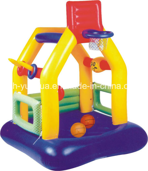 Inflatable Jumping Bouncer Castle with Basketball Shooting Play House pictures & photos