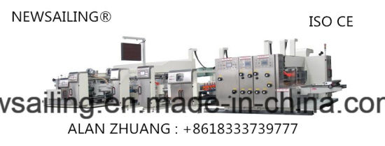 Automatic High Speed Printing Slotting Die Cutting Gluing Bundling Machine