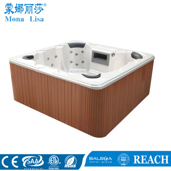 4 Person Outdoor Square Air Bubble Jet Bathtub (M 3347)
