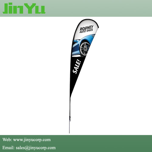4.0m Aluminum Fiberglass Teardrop Beachflag Banner Pole