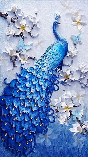 5D Diamond Painting Crystal DIY Embroidery Peacock Nmbp0036