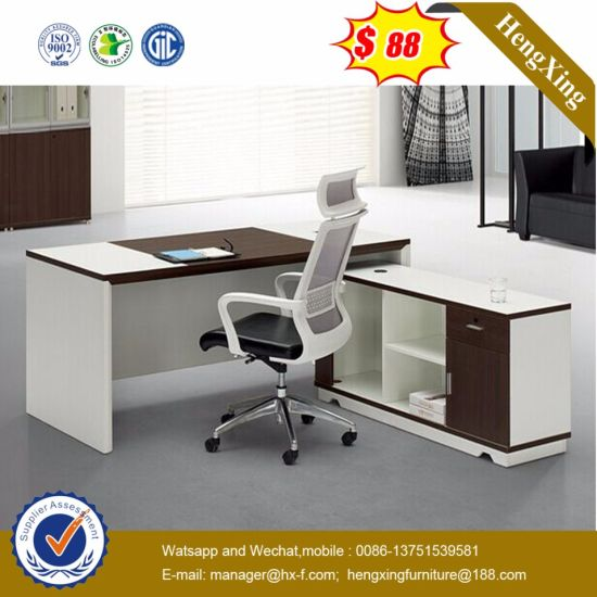 Corner Table Attached Unique Style BV Checking Office Desk (HX-ET14039) pictures & photos