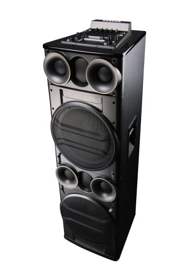 Shinco Bluetooth Multimedia Active Prefessional Speaker with 2*12 Inches