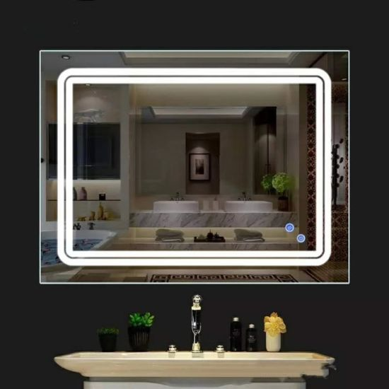 LED Anti Fog Bathroom Mirror Touch Screen Bathroom Makeup Mirror pictures & photos
