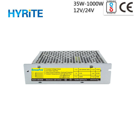 IP20 12V 250W SMPS Switching Indoor LED Power Supply