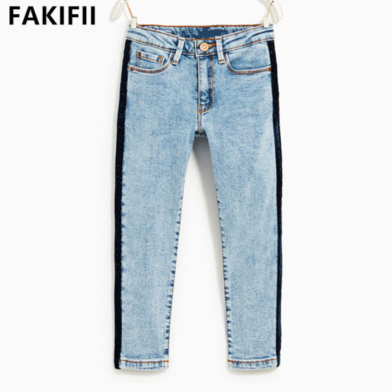 Newest Style High Quality OEM/ ODM Children Apparel Kids Cotton Jeans
