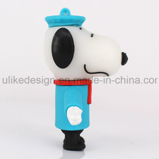 Blue Hat Snoopy PVC USB Flash Drive (UL-PVC017-02) pictures & photos