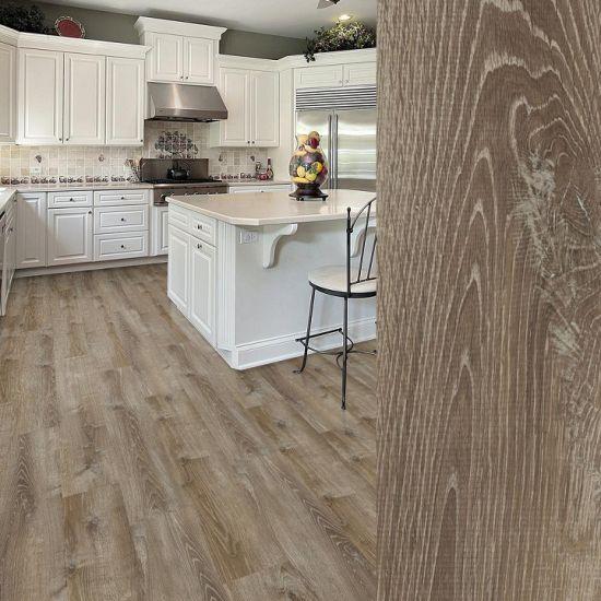 Wooden Waterproof Spc Click PVC Luxury Vinyl Flooring Plank Tile