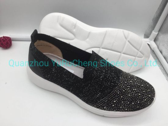 Slip on Flyknite Shoes with Hot Drill for Women