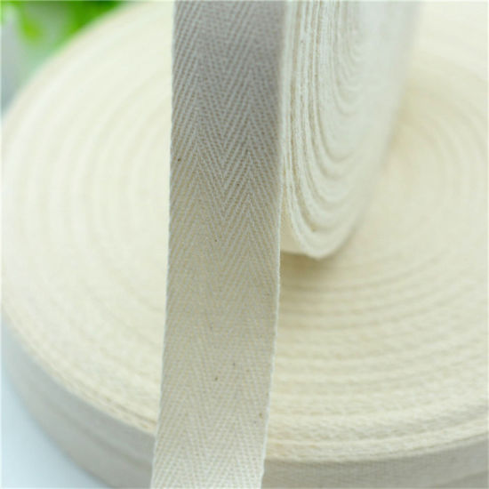 Direct Selling Herringbone Natural Color Cotton Webbing