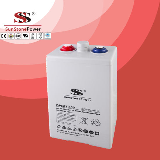 Sunstone Brand Opg Series 2V 350ah Gel Deep Cycle Opzv Battery Solar Battery