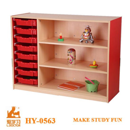 Plastic Kindergarten Furniture/Children Toys Storage Cabinet