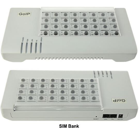32 Remote SIM Card Box for GSM GoIP Gateway SIM Bank Dbl SMB32 VoIP Gateway