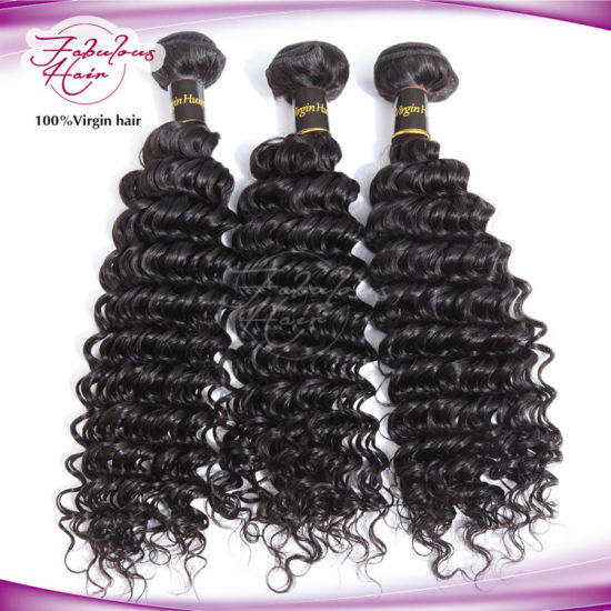 Top Selling Deep Wave Brazilian Remy Human Hair Weave pictures & photos
