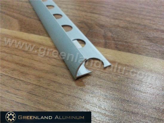 Aluminum Round Edge Strip Trim For Tile With Matt Silver