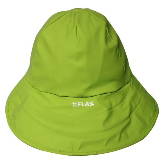Yellowish-Green PU Rain Hat /Rain Cap/Raincoat for Adult pictures & photos