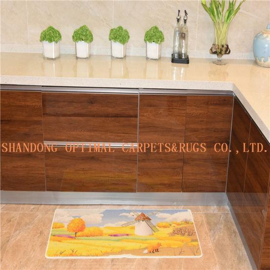 Multi Colour Stripe Non Slip Machine Washable Rugs 50cm x 80cm