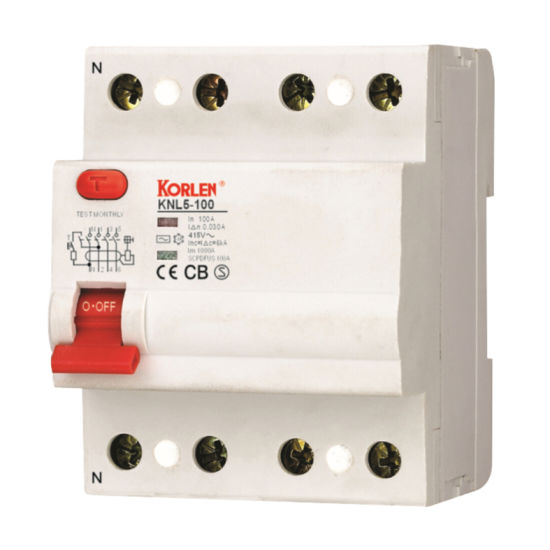 Supply High Quality (RCCB) Residual Current Circuit Breakers (KNL5-100) pictures & photos