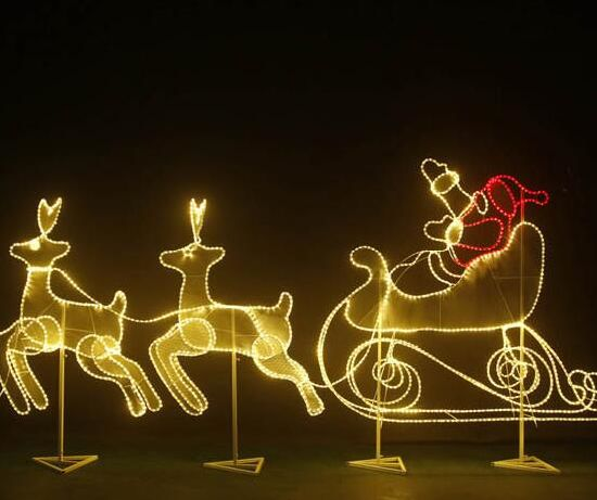 Customized Shopping Mall Outdoor Christmas Light Deer Motif Light pictures & photos