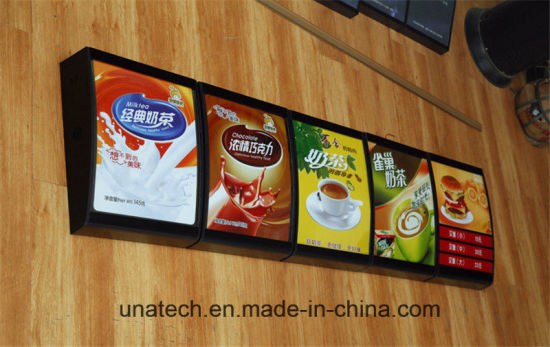 china chain food store elegant led lamps acrylic back lighting box