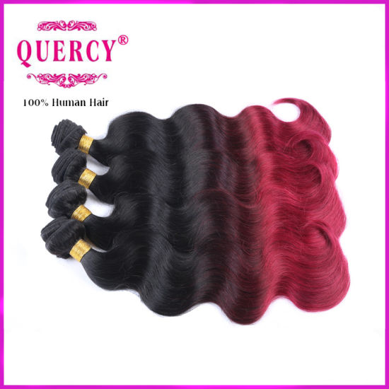 100% Virgin Omber Brazilian Human Hair Weave Body Wave Human Hair Extension, Colored Brazilian Hair pictures & photos