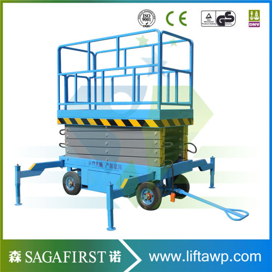 8m Hydraulic Battery Moving Electric Scissor Lift Platform with Ce pictures & photos