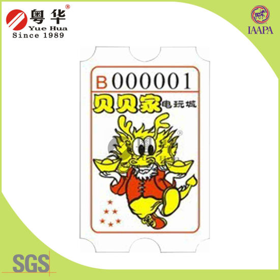 2016 New 160g/180gwood Free Paper Raffle Ticket for Redemption Ticket Machine pictures & photos